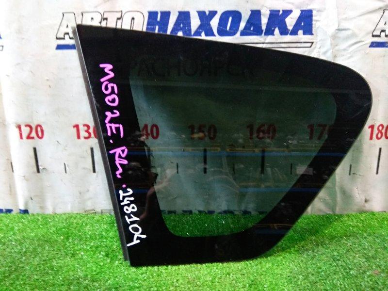 Стекло собачника Toyota Passo Sette M502E 3SZ-VE 2008 заднее левое RL, заводская тонировка, с