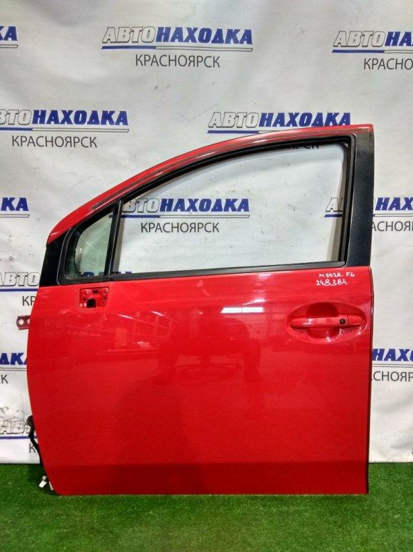 Дверь Toyota Passo Sette M502E 3SZ-VE 2008 передняя левая FL в сборе. Цвет 3P0,облез лак на ручке