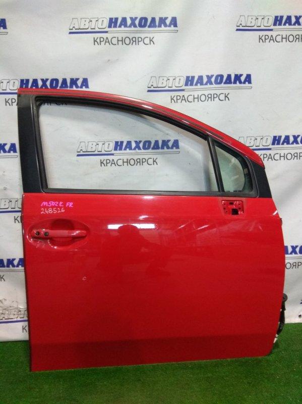 Дверь Toyota Passo Sette M502E 3SZ-VE 2008 передняя правая FR в сборе. Цвет 3P0, есть несколько мелких