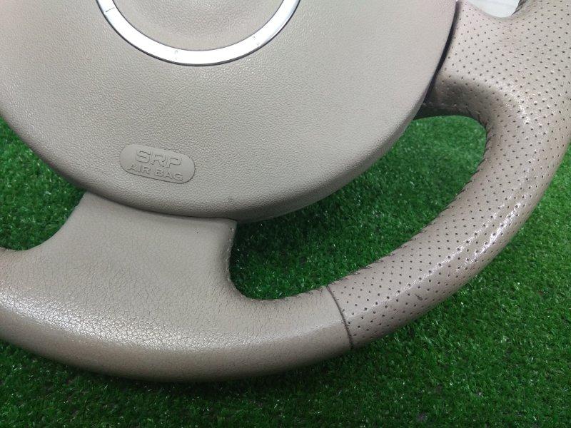 Airbag Renault Megane BM F4R 2002 передний правый ХТС, водительский, с рулем, без заряда, кожа, бежевый