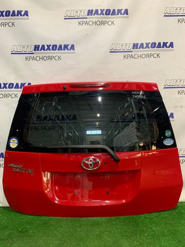 Дверь задняя Toyota Passo Sette M502E 3SZ-VE 2008 задняя В сборе, с камерой з/х, цвет 3P0. Немного