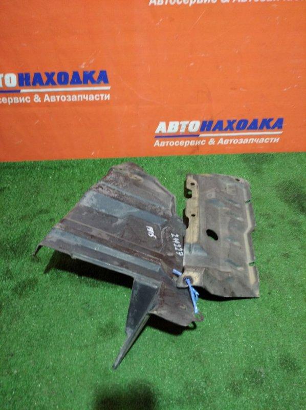 Защита двс Nissan Sunny FB15 QG15DE 1998 передняя левая 2 части низ+бок
