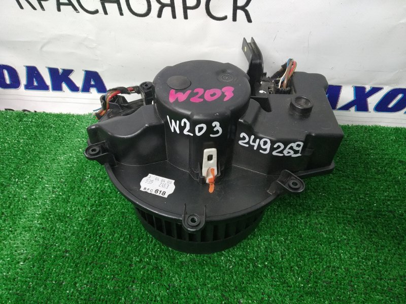 Мотор печки Mercedes-Benz C200 203.042 M271E18 2000 правый руль, со встроенным реостатом, 4 контакта