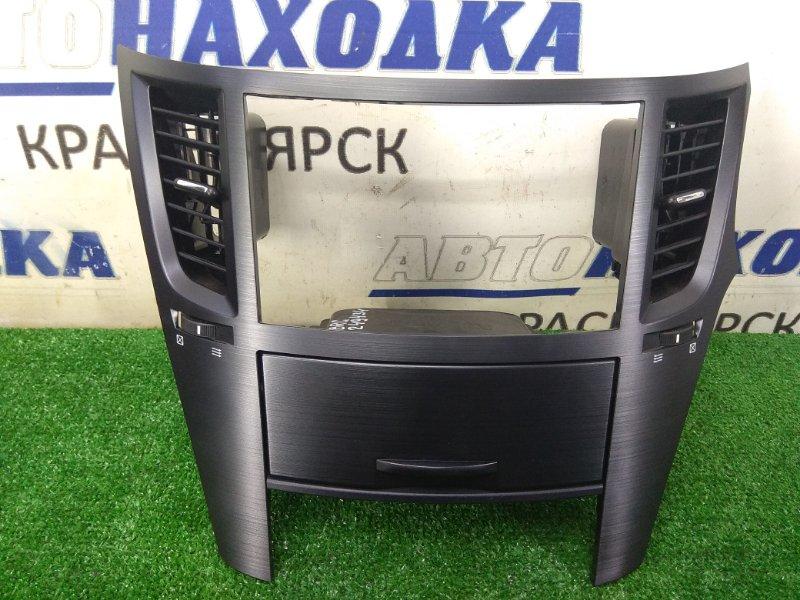 Консоль магнитофона Subaru Legacy BRG FA20 2012 ХТС, с воздуховодами и кармашком, черная (