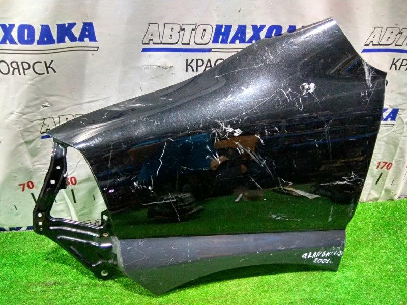 Крыло Toyota Granvia VCH10W 5VZ-FE 1999 переднее левое Левое, 2-й рестайлинг (1999-2002г.), черное, под