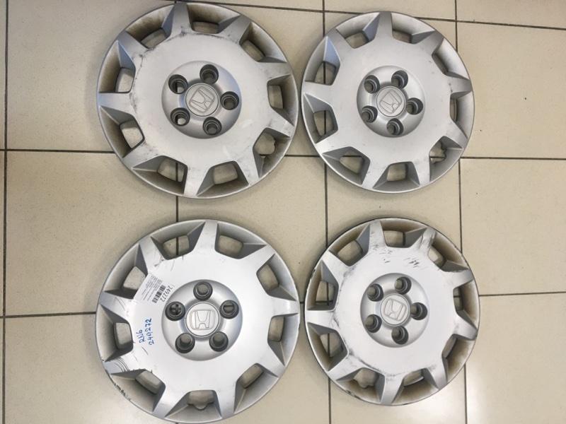 Колпаки колесные Honda Stream RN6 R18A 2006 комплект 4шт d=15mm под прижимную гайку/поцарапаны