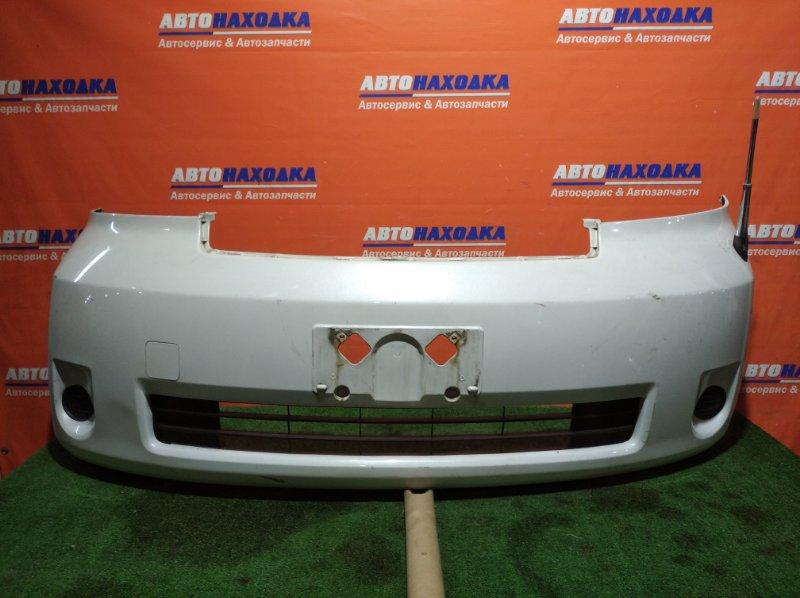 Бампер Toyota Porte NNP10 2NZ-FE 2005 передний 2мод уши лом снизу и сверху/ХТС/с антенной