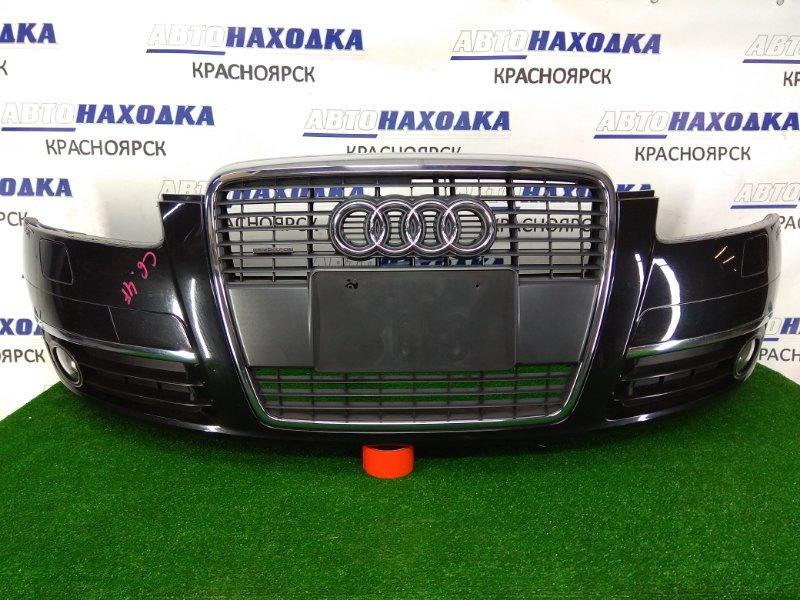 Бампер Audi A6 C6 AUK 2004 передний ХТС, передний, 1 модель, черный (4Z / Z9W), с туманками (19052), с