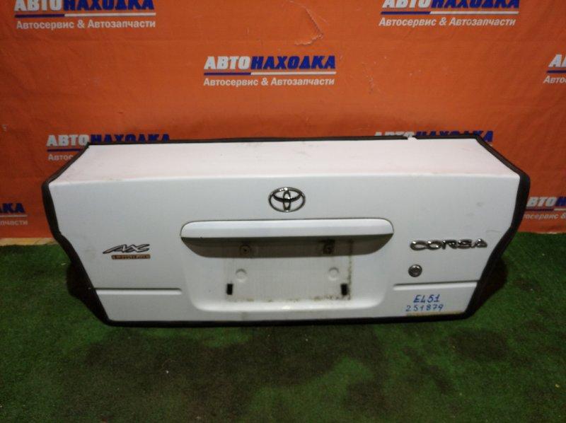 Крышка багажника Toyota Corsa EL51 5E-FE 1994 ХТС/+ тросик