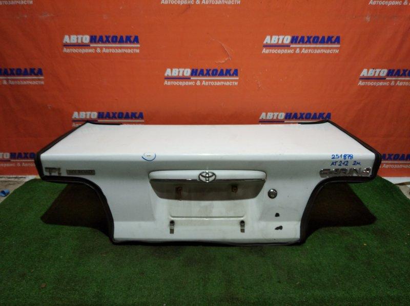 Крышка багажника Toyota Carina AT212 5A-FE 1998 2мод под покраску/значок Тойоты залит клеем/+