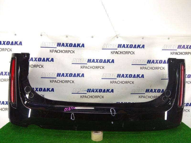 Бампер Mazda Biante CCEFW LF-VDS 2008 задний задний, черный (A3F), с катафотами (P7943), вмятинки,