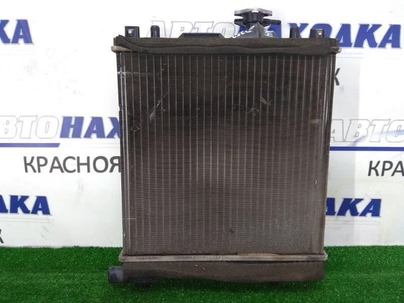 Радиатор двигателя Suzuki Alto HA25V K6A 2009 с диффузором и вентилятором, без трубок