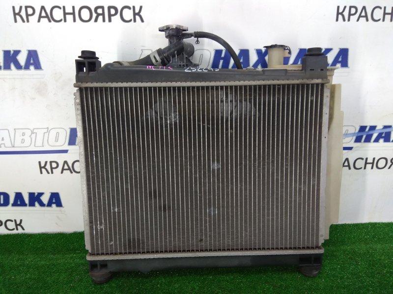 Радиатор двигателя Toyota Platz NCP12 1NZ-FE 1999 под АКПП, с диффузором, вентилятором и