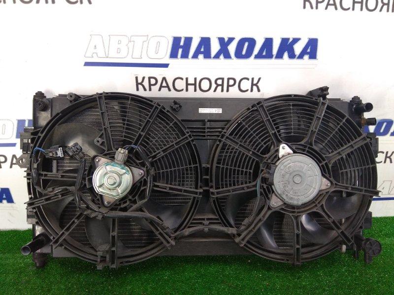 Радиатор двигателя Nissan Leaf ZE0 EM61 2009 с диффузором и вентиляторами, с датчиком