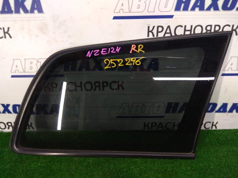 Стекло собачника Toyota Corolla Fielder NZE124G 1NZ-FE 2002 заднее правое Заднее правое, внешняя часть