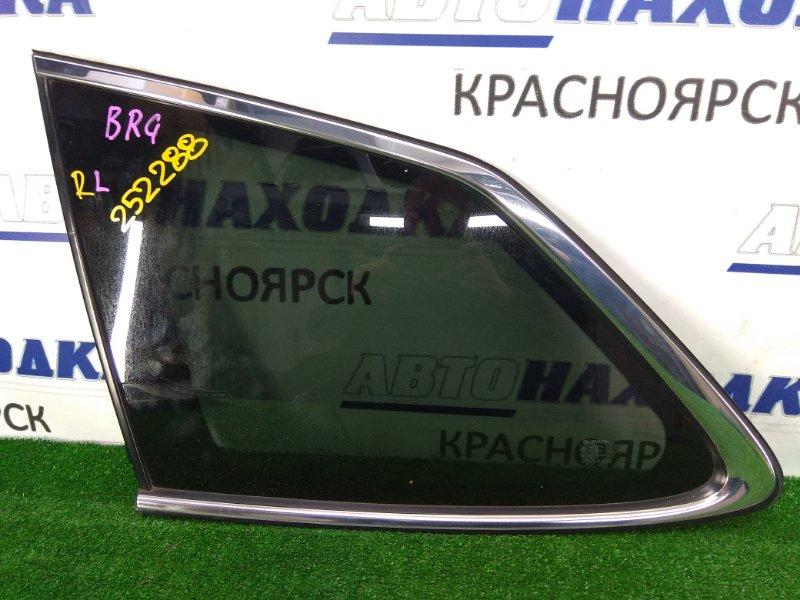 Стекло собачника Subaru Legacy BRG FA20 2012 заднее левое Заднее левое, хром. молдинг ОК