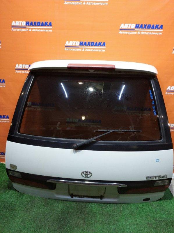 Дверь задняя Toyota Estima TCR10G 2TZ-FZE 1998 ХТС есть небольшая потертость/спойлер+стекло