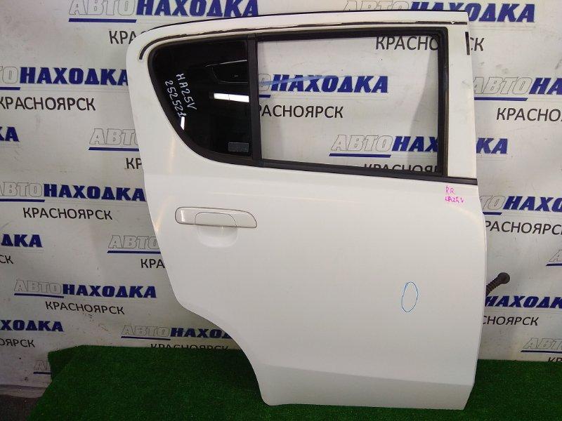 Дверь Suzuki Alto HA25V K6A 2009 задняя правая задняя правая, в сборе, мех. подъемник, белая (26U),