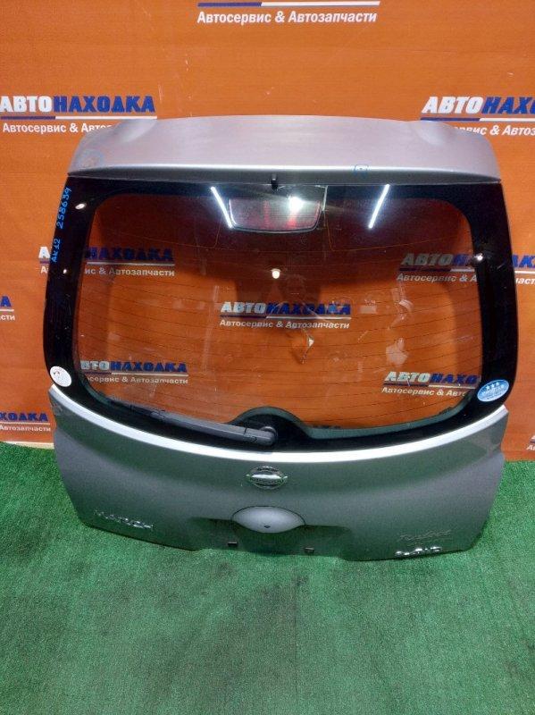Дверь задняя Nissan March AK12 CR12DE 2002 RAFEET/сверху вмятина и царапина/стекло