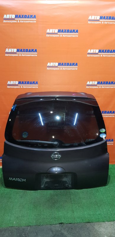 Дверь задняя Nissan March AK12 CR12DE 2002 ХТС есть небольшая вмятинка сверху/стекло