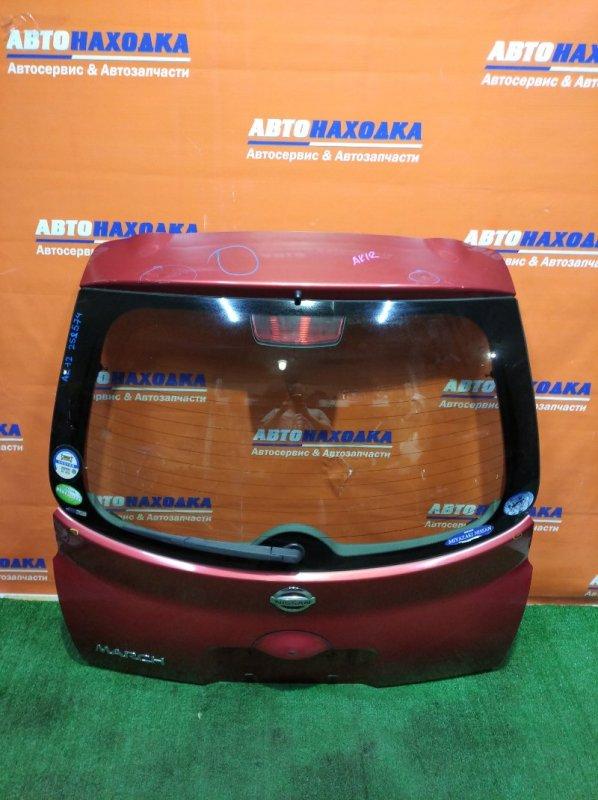 Дверь задняя Nissan March AK12 CR12DE 2002 ХТС есть небольшая вмятинки сверху/стекло