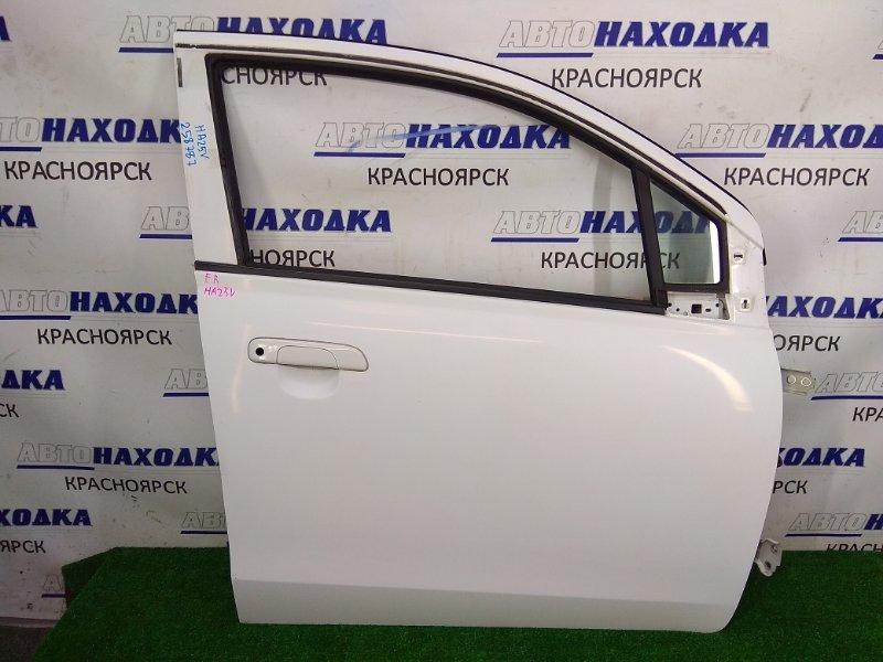 Дверь Suzuki Alto HA25V K6A 2009 передняя правая ХТС, передняя правая, белая (26U), мех.