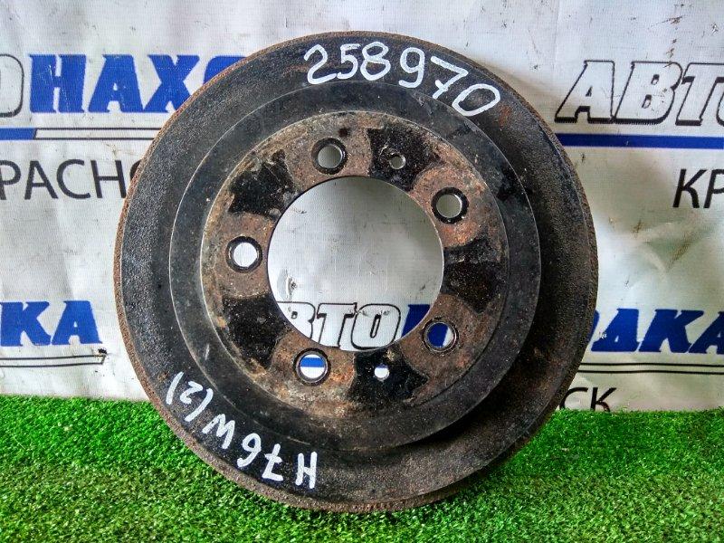 Барабан тормозной Mitsubishi Pajero Io H76W 4G93 1998 задний