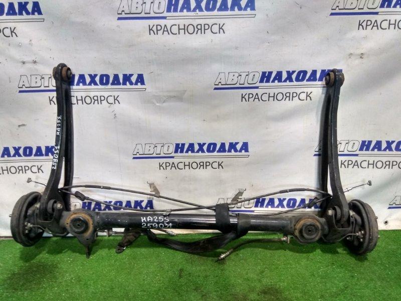 Балка поперечная Suzuki Alto HA25S K6A 2009 задняя задняя, в сборе (ступицы, барабаны, колодки,