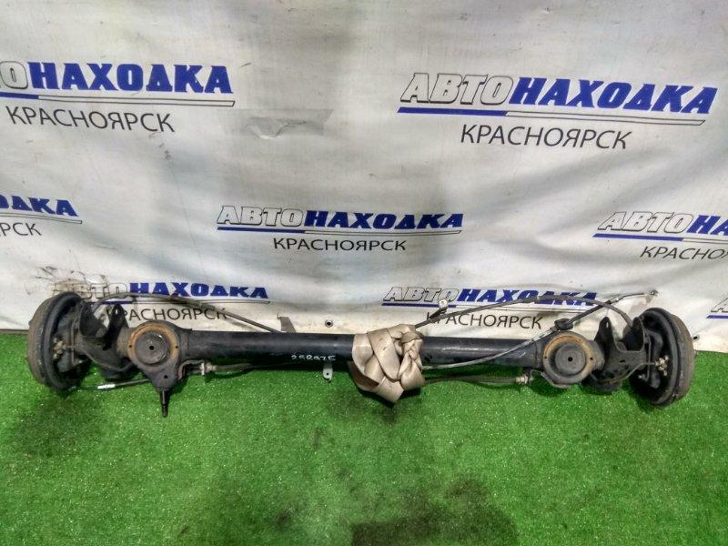 Балка поперечная Suzuki Alto HA25V K6A 2009 задняя задняя, в сборе (ступицы, барабаны, колодки,