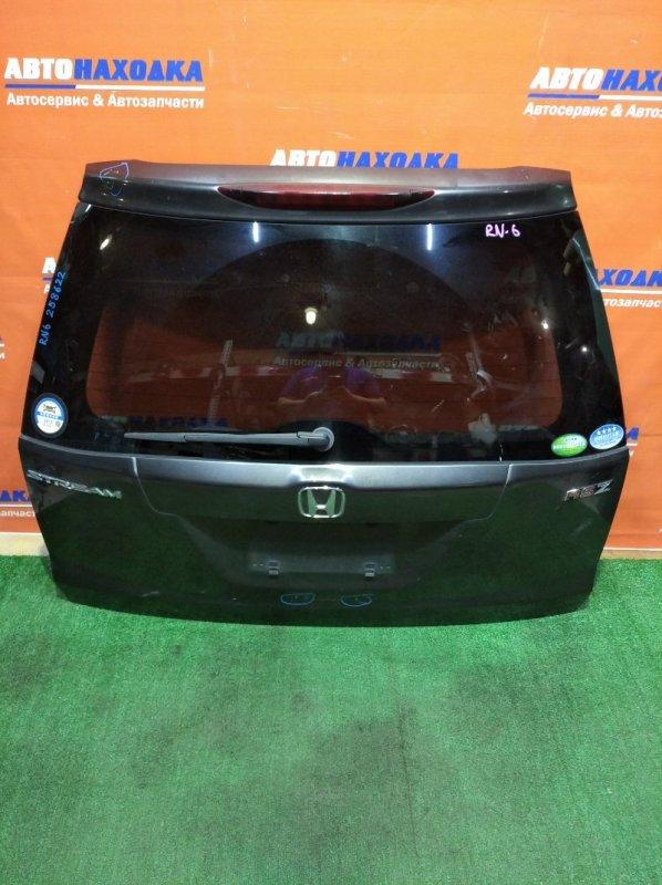 Дверь задняя Honda Stream RN6 R18A 2006 сверху вмятина/дефект ЛКП/стекло тонир+метла+камера