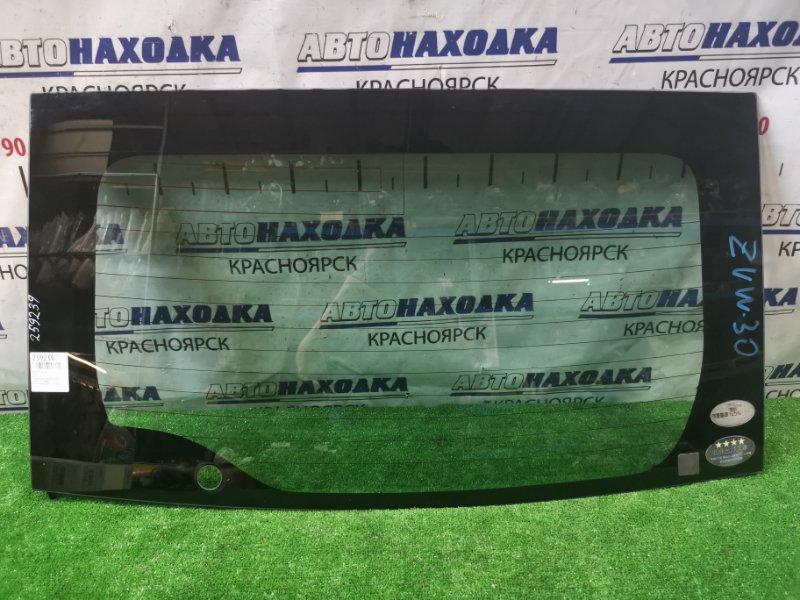 Стекло заднее Toyota Prius ZVW30 2ZR-FXE 2009 заднее Оригинальное стекло без сколов и трещин с