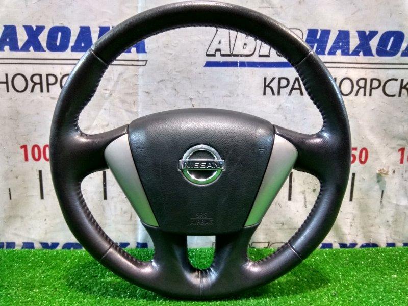 Airbag Nissan Teana J32 VQ25DE 2008 водительский, с рулем, кожа, без заряда, черный, немного