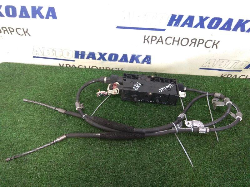 Трос ручника Subaru Legacy BRG FA20 2012 задний левый + правый, с электроприводом, с фишкой,