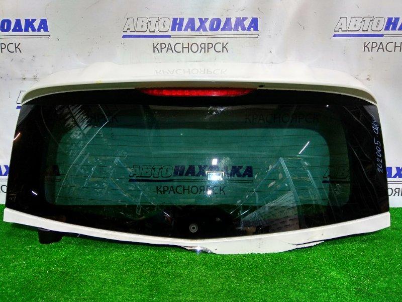 Стекло заднее Mazda Premacy CREW LF-DE 2007 заднее выпилено с 5-й двери, заводская тонировка,