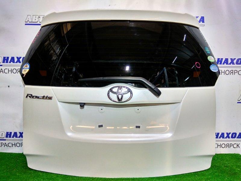 Дверь задняя Toyota Ractis NSP120 1NR-FE 2010 задняя В сборе, с нештатной камерой з/х, цвет 070.