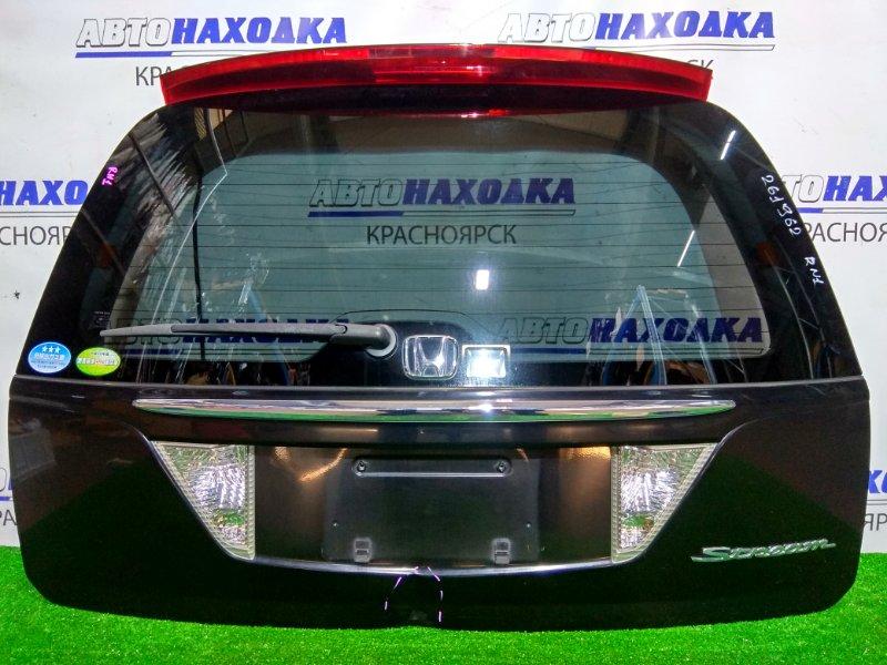 Дверь задняя Honda Stream RN1 D17A 2003 задняя задняя, в сборе, черный B92P, 2 модель. Есть вмятина