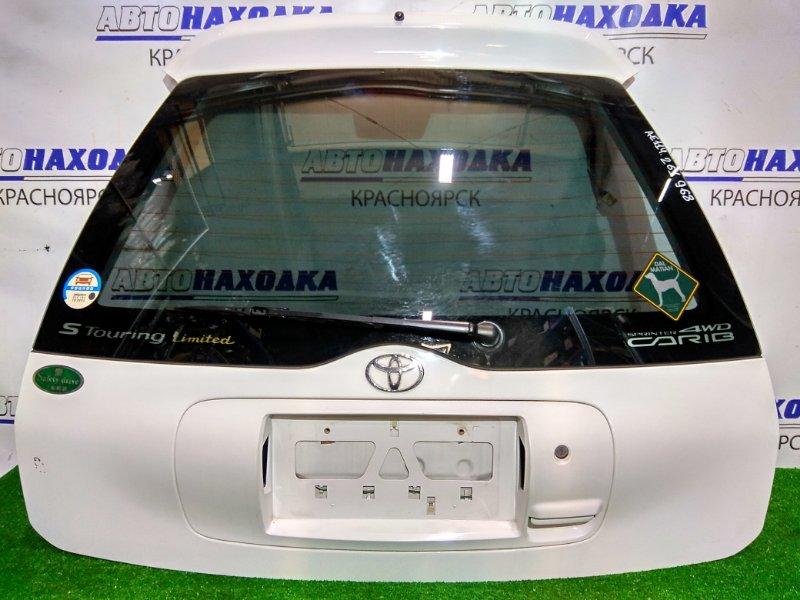 Дверь задняя Toyota Sprinter Carib AE114G 4A-FE 1995 задняя в сборе, цвет 040. Почти ХТС, есть