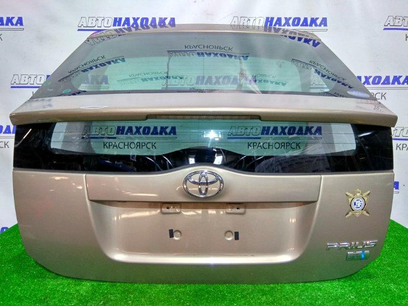 Дверь задняя Toyota Prius NHW20 1NZ-FXE 2003 задняя В сборе. Цвет 4S2, не под метлу. Есть трещина на