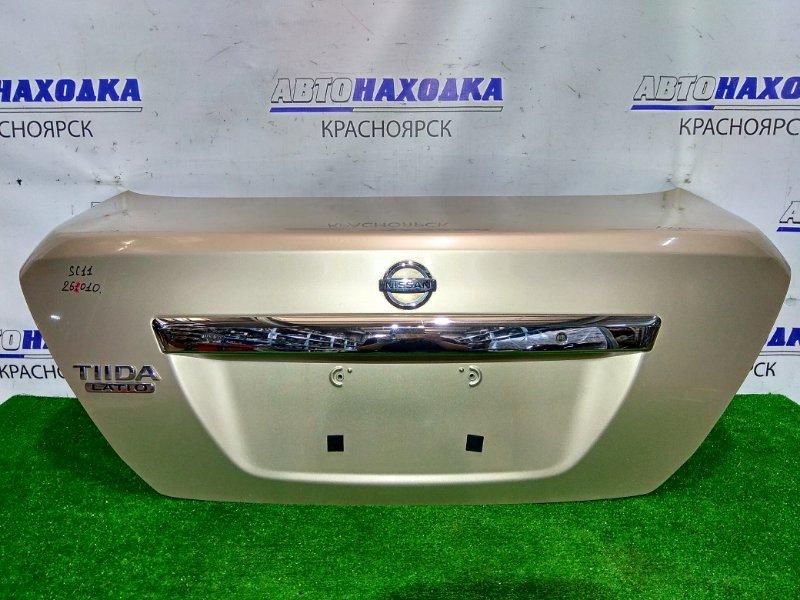 Крышка багажника Nissan Tiida Latio SC11 HR15DE 2004 задняя 2 мод., цвет C42, в ХТС.