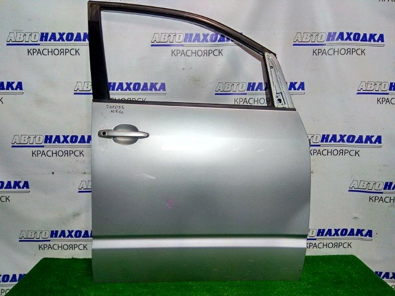 Дверь Toyota Voxy AZR60G 1AZ-FSE 2001 передняя правая FR. в сборе, цвет 1D4. Есть маленькая вмятинка.