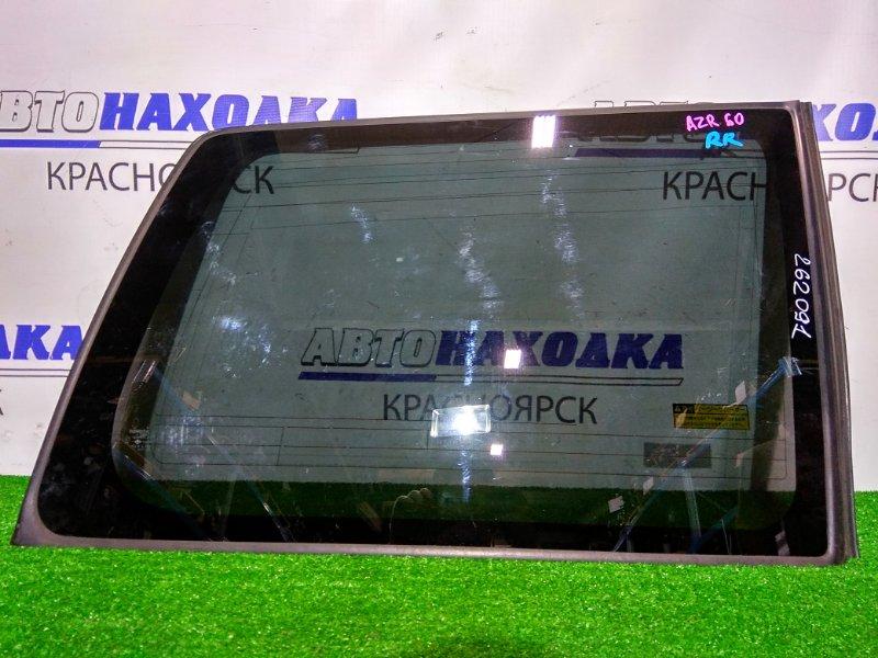 Стекло собачника Toyota Voxy AZR60G 1AZ-FSE 2001 заднее правое RR, заводская тонировка, с молдингом.