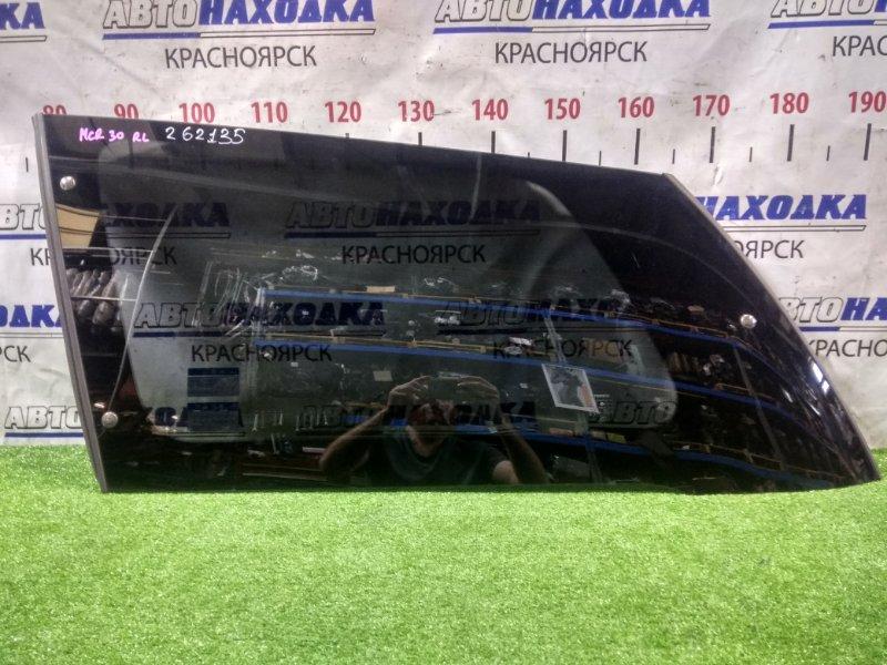 Стекло собачника Toyota Estima MCR30W 1MZ-FE 2000 заднее левое RL, заводская тонировка, с молдингом,