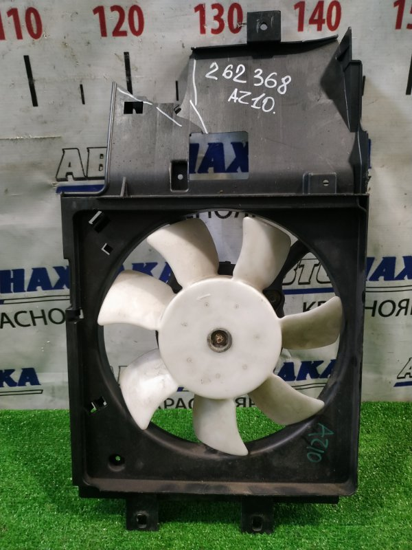 Вентилятор радиатора Nissan Cube AZ10 CGA3DE 1998 на кондиционер, с диффузором. Диффузор