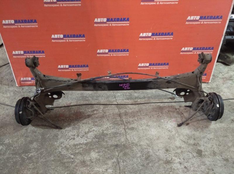 Балка поперечная Toyota Platz NCP12 1NZ-FE 1999 задняя под abs в сборе: ступицы