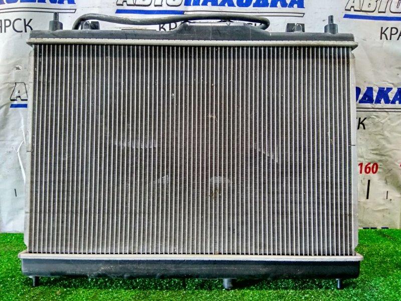 Радиатор двигателя Nissan Tiida Latio SC11 HR15DE 2004 В сборе с диффузором и вентилятором + бачок