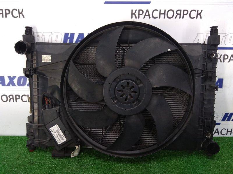 Радиатор двигателя Mercedes-Benz C200 203.042 M271E18 2000 в сборе с диффузором, вентилятором и
