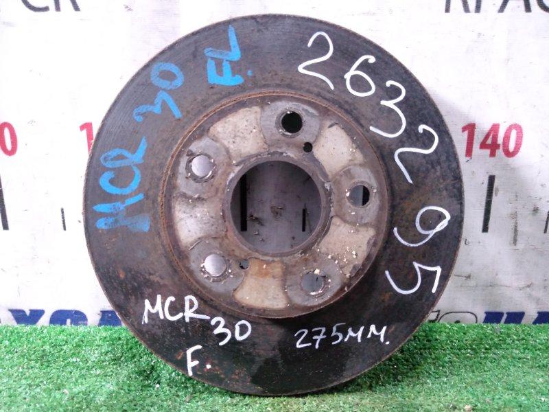 Диск тормозной Toyota Estima MCR30W 1MZ-FE 2000 передний передний, диаметр 275 мм.
