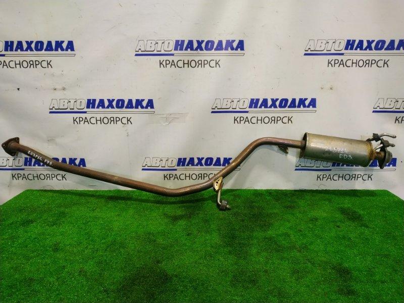 Глушитель Honda Civic FD3 LDA 2005 средняя часть глушителя с резонатором