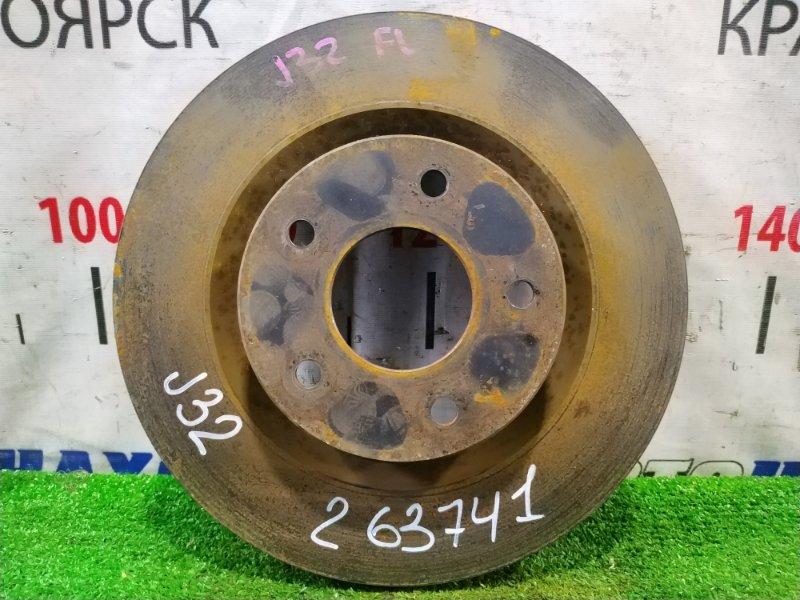 Диск тормозной Nissan Teana J32 VQ25DE 2008 передний передний, диаметр 296мм.