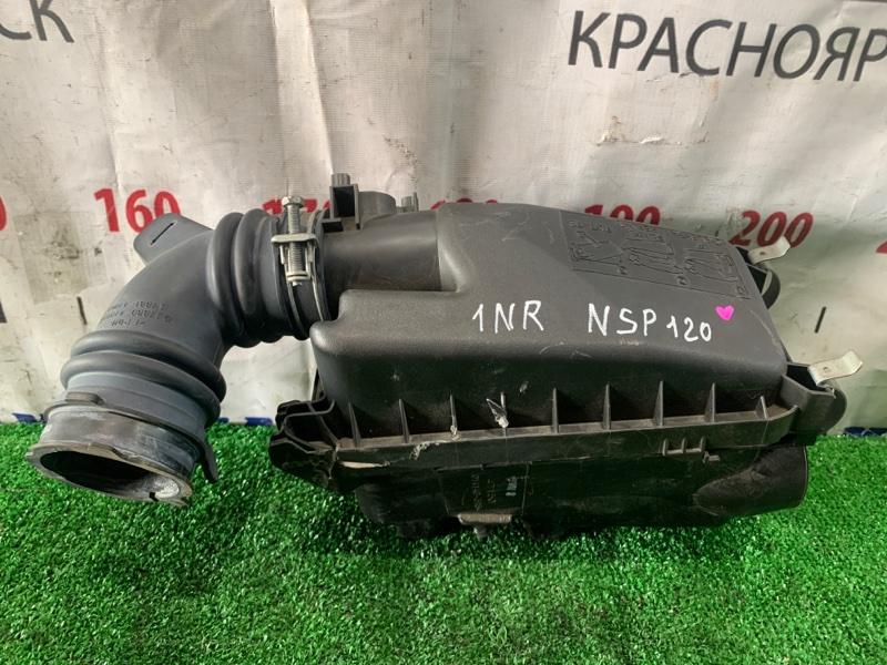 Корпус воздушного фильтра Toyota Ractis NSP120 1NR-FE 2010 с патрубком на дроссель, дефект